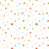 Seamless retro dots pattern Royalty Free Stock Photography