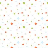Seamless retro dots pattern Royalty Free Stock Photography