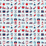 Seamless Retro education back to school pattern Royalty Free Stock Photos