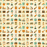Seamless Retro education back to school pattern Stock Images