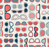 Seamless retro eyeglasses  pattern Stock Photography