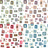 Seamless retro fifties squares design pattern Stock Photos