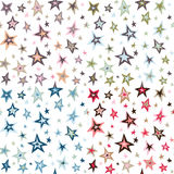 Seamless retro fifties stars design pattern. 4 color combinations Stock Image