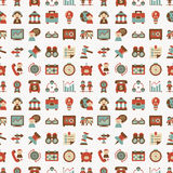 Seamless retro flat business pattern background Stock Image