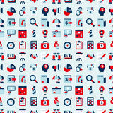 Seamless retro flat business pattern background Royalty Free Stock Images