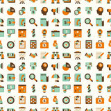 Seamless retro flat business pattern background Stock Images