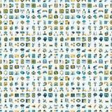 Seamless Retro Flat Communication Pattern Royalty Free Stock Images