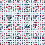 Seamless retro flat communication pattern Royalty Free Stock Photo