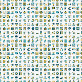 Seamless retro flat communication pattern Royalty Free Stock Images