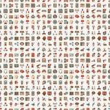 Seamless retro flat communication pattern. Cartoon  illustration Stock Photos
