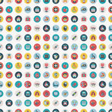 Seamless retro Flat Medical pattern Royalty Free Stock Photos