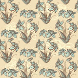 Seamless retro floral background Stock Images