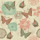 Seamless retro floral background Stock Photography