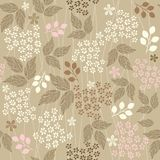 Seamless retro floral background invector  Royalty Free Stock Images