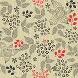 Seamless retro floral background in vector  Stock Photography