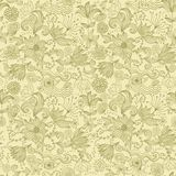 Seamless retro floral background in vector Stock Images
