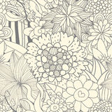 Seamless retro floral pattern Royalty Free Stock Photo