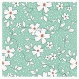Seamless retro floral pattern royalty free illustration