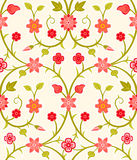 Seamless retro floral pattern Stock Photography