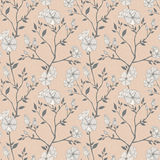 Seamless retro floral pattern Stock Image
