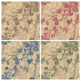 Seamless retro floral pattern (vector) Royalty Free Stock Images