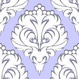 Seamless retro floral Pattern - white on blue Royalty Free Stock Photos