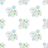 Seamless retro floral romantic pattern texture background Royalty Free Stock Image