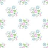 Seamless retro floral romantic pattern texture background stock illustration