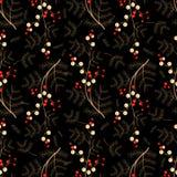 Seamless retro flower dark pattern Royalty Free Stock Photos