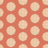Seamless retro flower pattern Stock Images