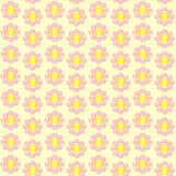 Seamless retro flowered wallpaper Royalty Free Stock Photo