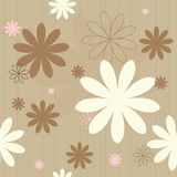 Seamless retro flowers. Seamless retro flower background. Grouped and layered for easy editing Stock Photos
