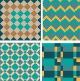 Seamless retro geometric decorative pattern Royalty Free Stock Photo