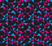 Seamless Retro Geometric Pattern. Colourful pattern based on basic geometric forms, reminding of 80s and 90s fashion Stock Photos