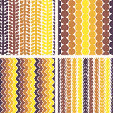 Seamless retro geometric pattern Stock Photography