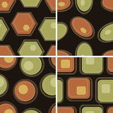 Seamless retro geometric pattern Royalty Free Stock Images