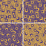 Seamless retro geometric pattern Stock Images
