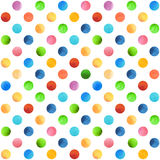 Seamless retro geometric pattern with polka dots.