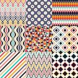 Seamless retro geometric pattern. Set Vector Illustration