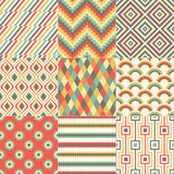 Seamless retro geometric pattern. Set Royalty Free Illustration
