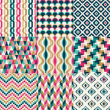 Seamless retro geometric pattern. Set Stock Illustration