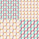 Seamless retro geometric pattern set Stock Photos