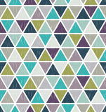 Seamless retro geometric triangle tiles wallpaper Royalty Free Stock Image