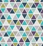 Seamless retro geometric triangle tiles wallpaper Royalty Free Stock Image