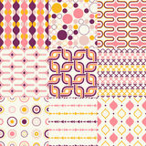 Seamless retro geometric wallpaper Royalty Free Stock Photography