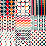 Seamless retro geometric wallpaper Stock Photo