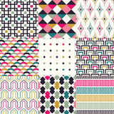 Seamless retro geometric wallpaper Stock Image