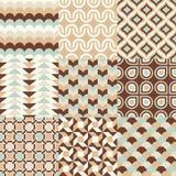 Seamless retro geometric wallpaper Stock Images