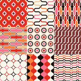 Seamless retro geometric wallpaper Royalty Free Stock Photo