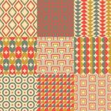 Seamless retro geometric wallpaper Royalty Free Stock Image